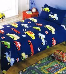 Kids Single Duvet Cover Sets Boys Car Trucks Road Works Single Duvet Cover Quilt Bed Set