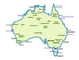 major cities of australia map map of australia with towns and cities major tourist