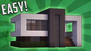 Build A Small House by Minecraft How To Build A Small Modern House Tutorial 14 Youtube