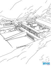 temple hatshepsut coloring pages hellokids