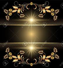 background with golden ornament for various design artwork royalty