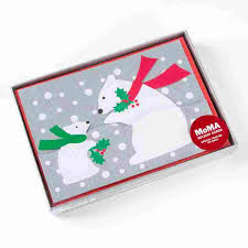 moma christmas cards polar cub boxed cards by moma set of 8