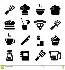 icone cuisine icônes de cuisine illustration de vecteur illustration du boisson
