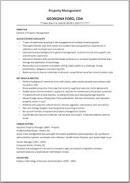 Residential Counselor Resume Property Management Resume Examples Resume Sample For Property