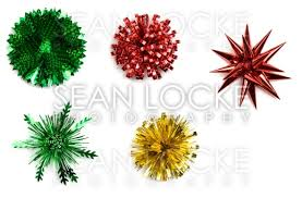 gift bows christmas variety of isolated foil gift bows locke