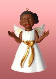 amazon com african american christmas ornament angel worship