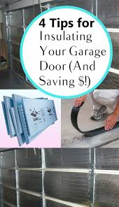 4 tips for insulating your garage door and saving garage