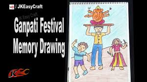 how to draw ganpati festival memory drawing how to draw ganesha
