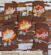 thanksgiving silverware holders with epiphany crafts s