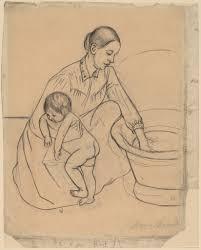 mary cassatt the bath recto 1891 artsy