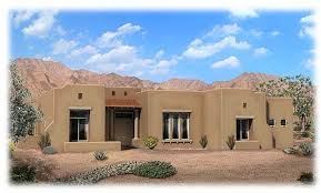 pueblo style house plans pueblo style home exterior picasso model in desert community
