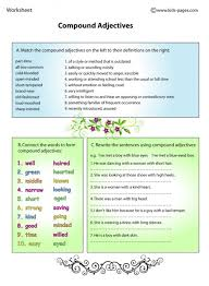 compound adjectives worksheet