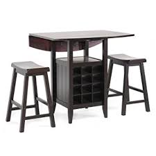 Drop Leaf Bistro Table Baxton Studio 3 Black Wood Modern Drop