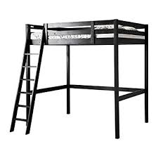 Amazoncom Ikea FullDouble Size Loft Bed Frame Black - Double loft bunk beds