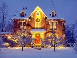 Outdoor Xmas Decorations by Houses Home Holidays Outdoor Christmas Decorations Sale Snow