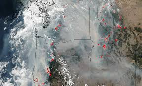 Oregon Fires Map Wildfire Map 2017 76 Fires Engulf Oregon Other Western States