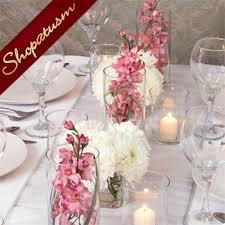 18 Inch Glass Cylinder Vase Wedding Centerpiece Floating Candle Cylinder Vase Candle Holder