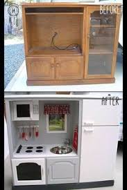 tv cabinet kids kitchen turn an old tv cabinet into a play kitchen for your daughter