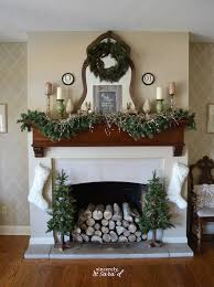 fireplace decorating ideas christmas fireplace decor ideas sincerely sara d