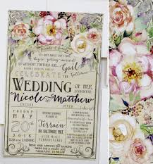 wedding invitations floral a peek into the studio rustic floral wedding invites momental