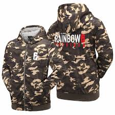 siege i size wishot tom clancy s rainbow six siege hoodies zip up printing