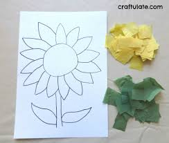 sunflower craft craftulate