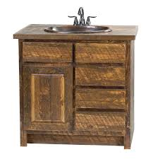 faux barn wood vanity rustic furniture mall by timber creek
