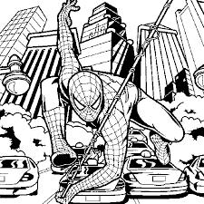 print u0026 download spiderman color pages print free