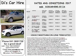Port Elizabeth Car Rental Dis Car Hire Home