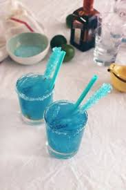 check out breaking bad blue margarita with blue salt and blue ice