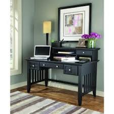 charlotte black desk with hutch z1410110b the home depot