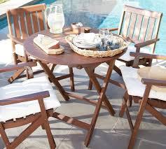 Round Bistro Table Chatham Round Folding Bistro Table Dark Honey Pottery Barn