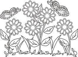 flores infantiles colorear imprimir dibujos animados