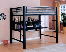 home design furniture metal bunk bed with desk and futon chair