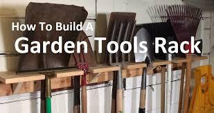 garden tools rack how to build an oldschool organizer youtube