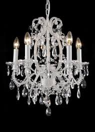 Shabby Chic Chandeliers by White Shabby Chic Chandelier Girls Room Chandelier Chandelier
