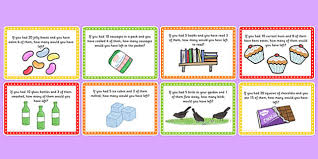 subtraction word problems word problem challenge cards challenge cards