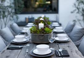 Dining Table Candles Design Ideas Outdoor Dining Table With Candle Centerpieces
