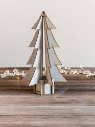 scandinavian style grey mini wooden christmas tree homeware and