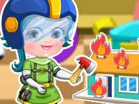 baby hazel firefighter dressup baby hazel games