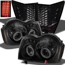 jeep grand cherokee led tail lights for 05 06 grand cherokee black smoke ccfl pro headlights smoke led