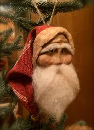 handmade primitive santa ornament primitive santa handmade and
