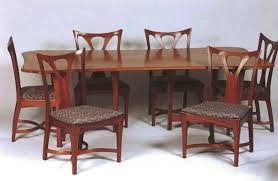 william doub custom furniture art nouveau mahogany dining room
