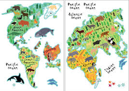 Home Decor World by Wallpops Home Decor Line Kids World Map Wall Decal U0026 Reviews