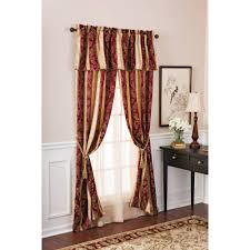 Valance And Drapes Better Homes And Gardens Osaka Traditional Stripe 5 Piece Window