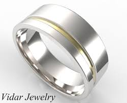 mens two tone wedding bands men s custom two tone gold wedding band vidar jewelry unique