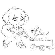 boy playing with dog coloring page coloring home
