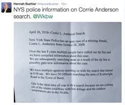 what happened to corrie anderson wkbw com buffalo ny