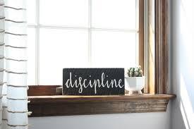 discipline word sign custom sign custom wooden sign wooden