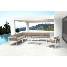 White Aluminum Patio Furniture by Zuo Modern 703810 Golden Beach Outdoor Arm Chair In White Aluminum